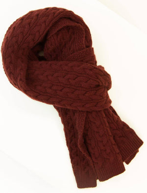Bugundy Braided Wool & Cashmere Scarf
