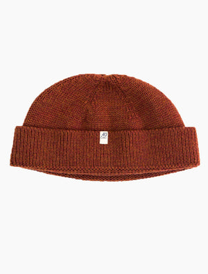 Rust Solid Wool Fisherman Beanie