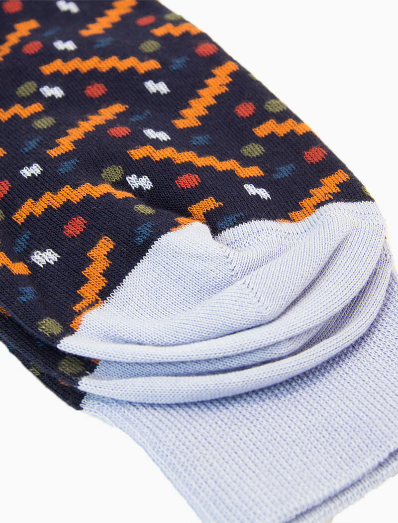 Navy Party Organic Cotton Socks
