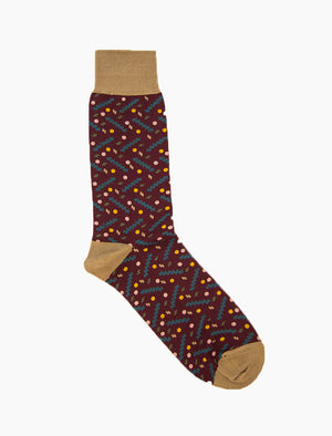 Burgundy Party Organic Cotton Socks