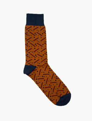 Rust Party Organic Cotton Socks