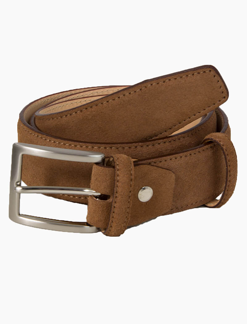 Brown Trento Solid Suede Belt | 40 Colori