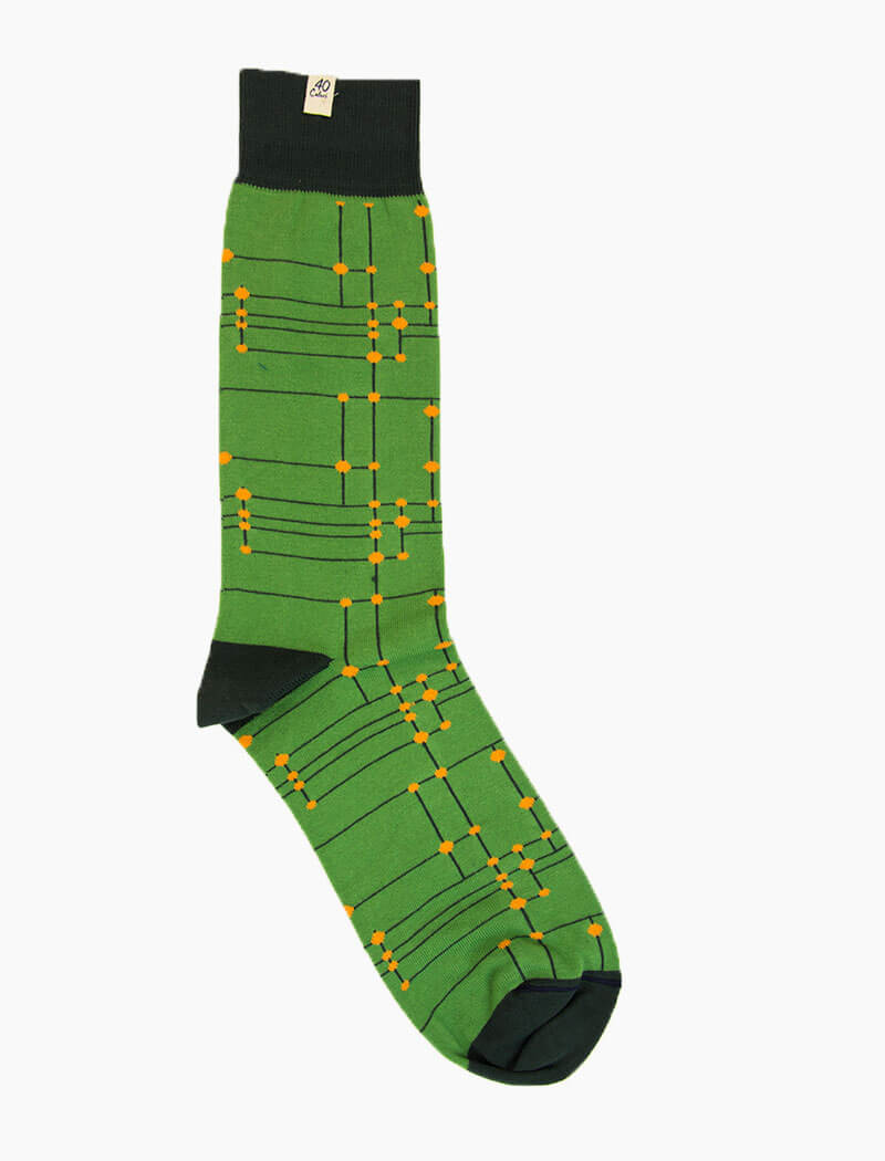 Green Stripes & Dots Organic Cotton Socks