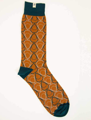 Rust Multi Drops Organic Cotton Socks | 40 Colori