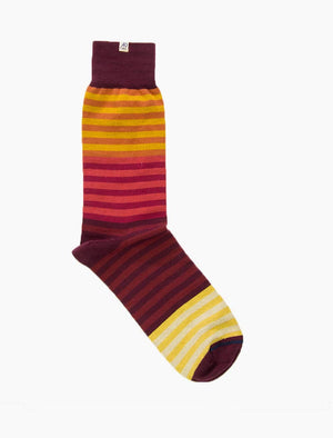 Red Gradient Striped Organic Cotton Socks