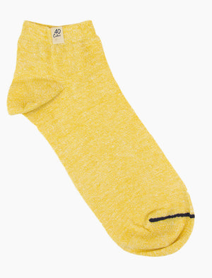 Yellow Melange Short Linen & Organic Cotton Socks
