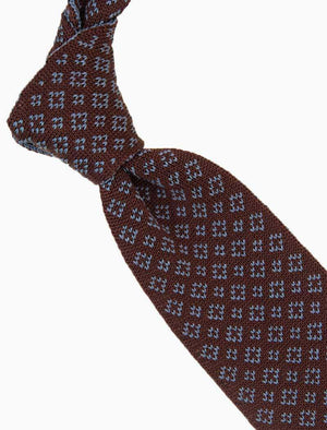 Burgundy Small Diamonds Silk Knitted Tie