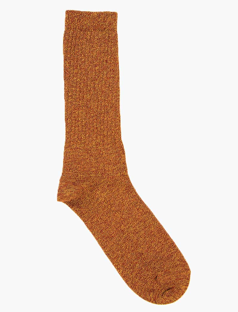 Rust Thick Melange Organic Cotton Socks | 40 Colori