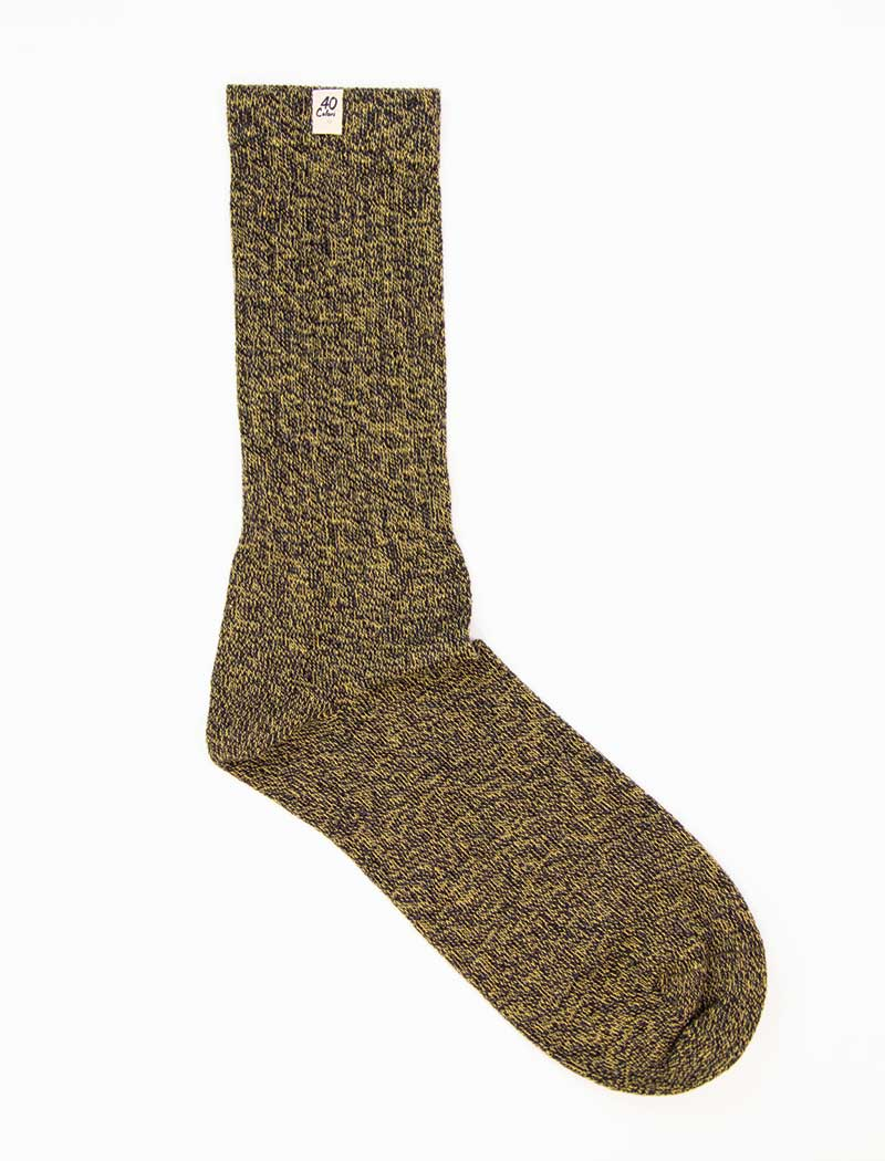 Yellow Thick Melange Organic Cotton Socks | 40 Colori