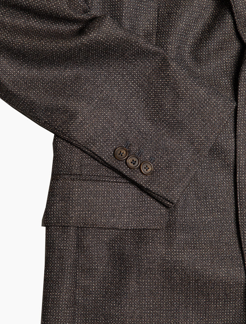 Brown Birdseye Wool Blazer