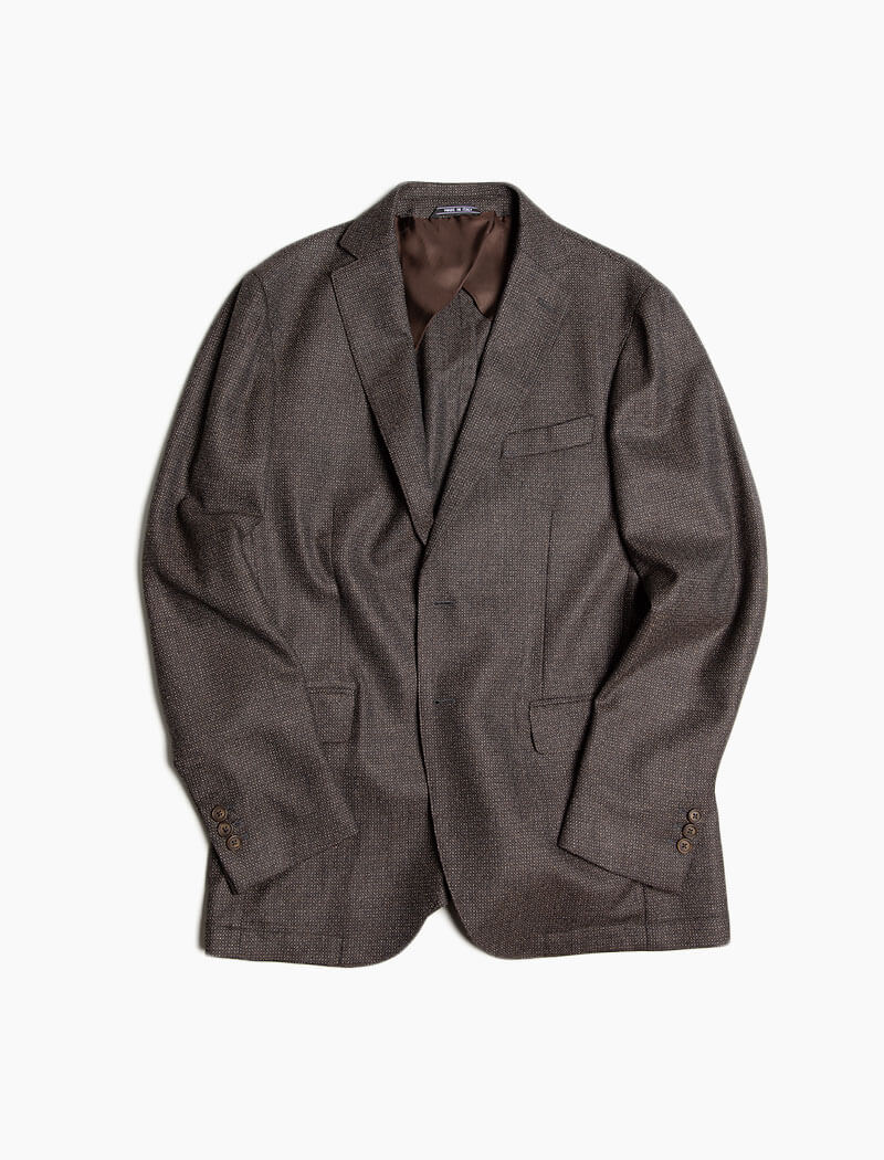 Brown Birdseye Wool Blazer | 40 Colori