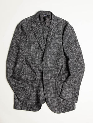 Grey Houndstooth Wool Blazer | 40 Colori