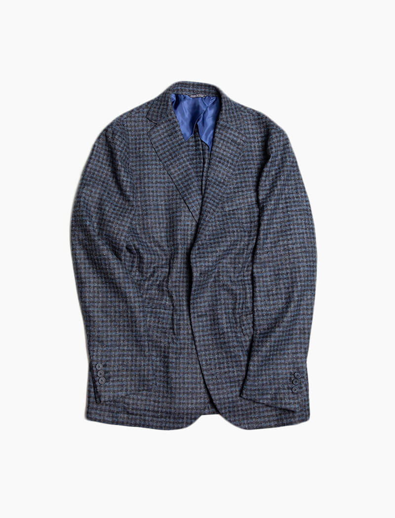 Blue Check Wool Blazer | 40 Colori