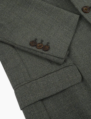Light Green Hopsack Wool Blazer | 40 Colori