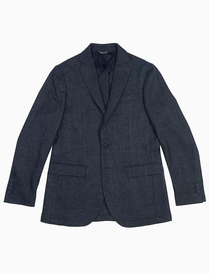 Blue Dotted Wool Blazer | 40 Colori