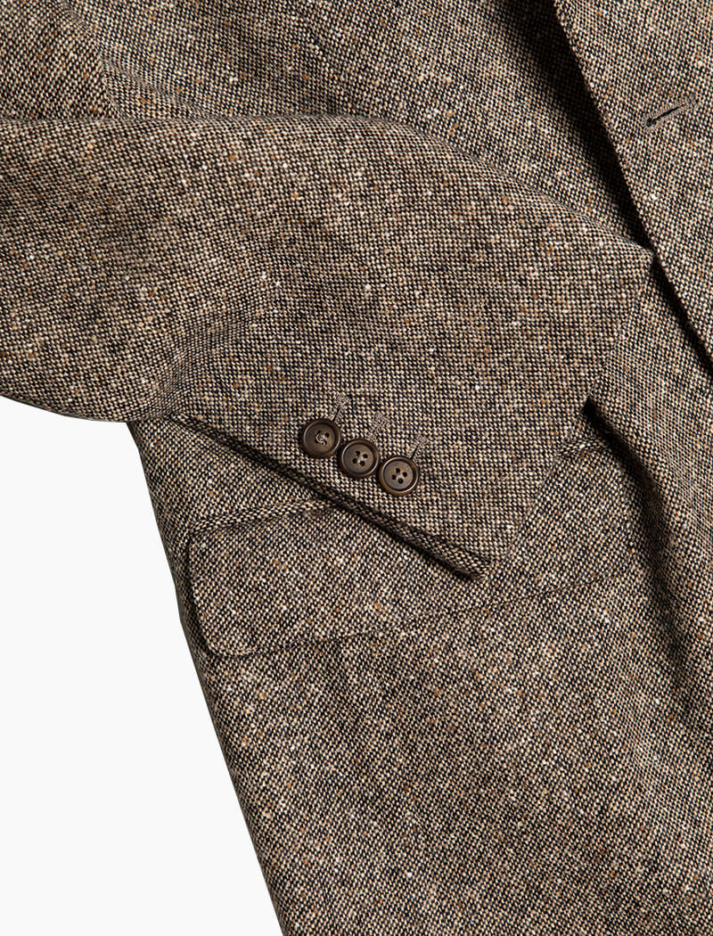 Taupe Donegal Wool Blazer