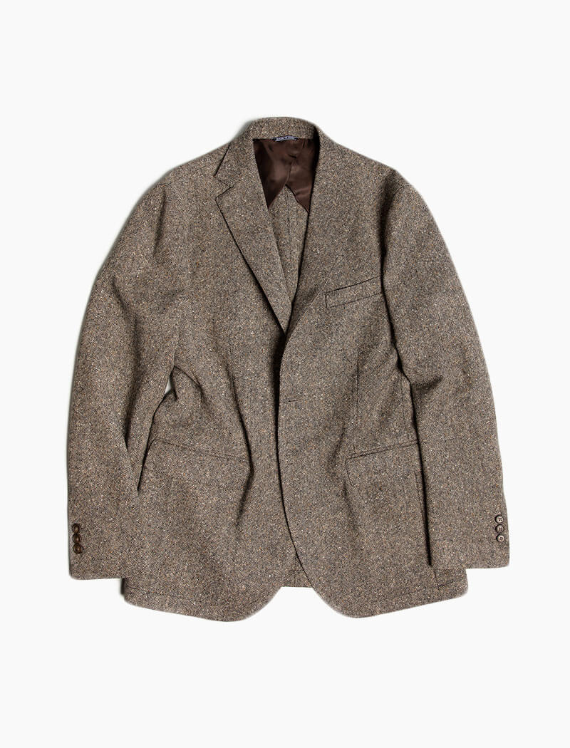 Taupe Donegal Wool Blazer | 40 Colori