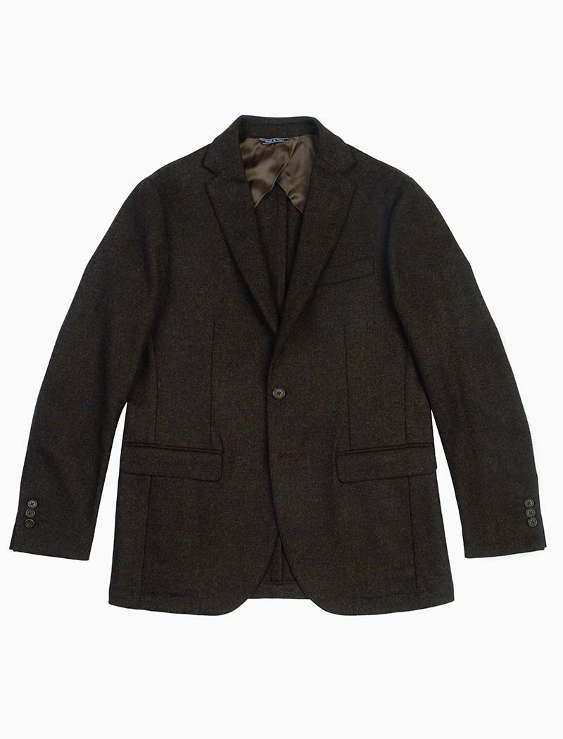 Brown Melange Wool Blazer | 40 Colori