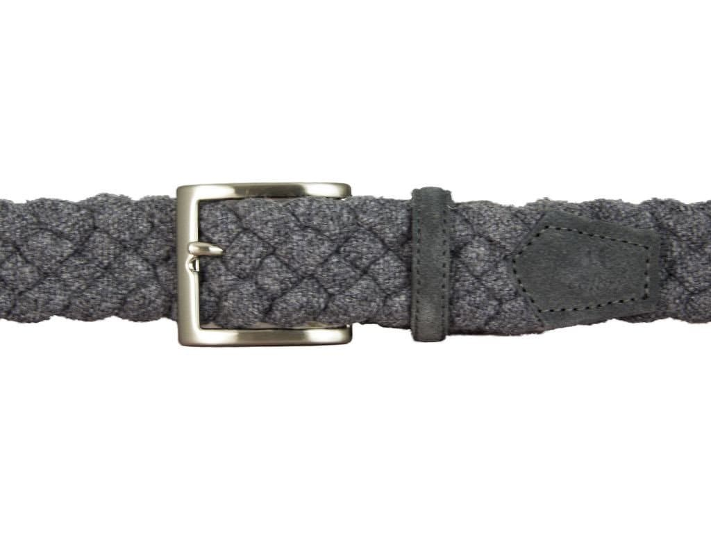 Solid Wool Elasticated Belt