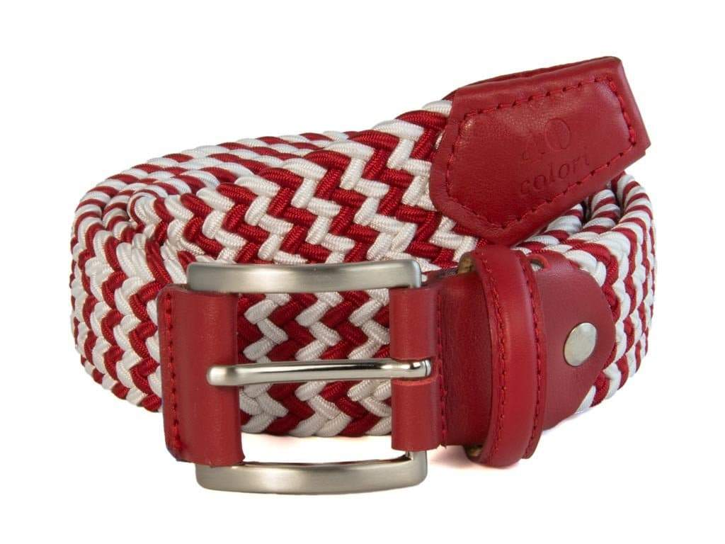 BAR STRIPED ELASTICATED WOVEN BELT
