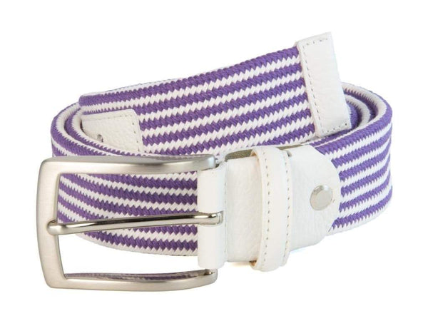 CLUB STRIPED ELASTICATED WOVEN BELT