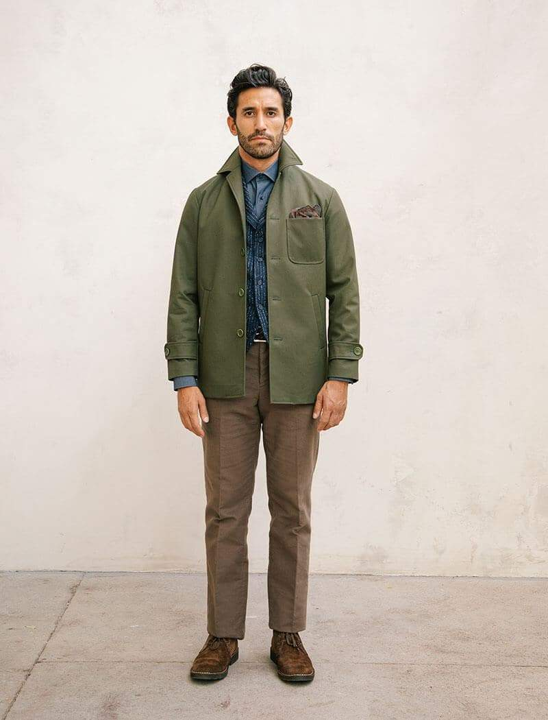 Brown Moleskin Comfort Trousers | 40 Colori