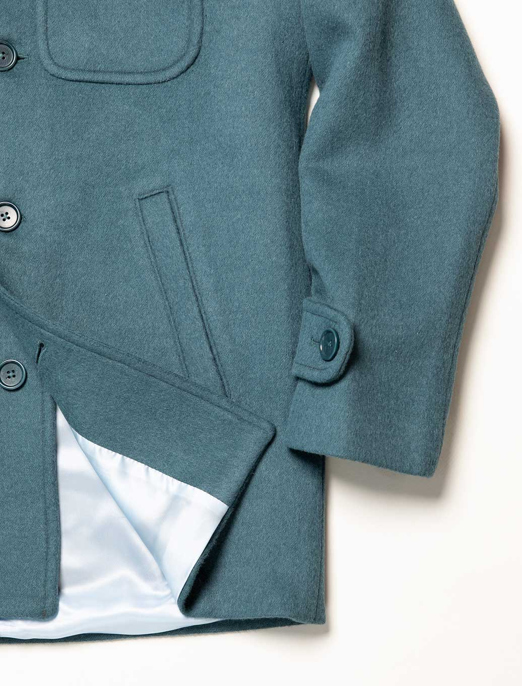 Teal Wool Overcoat | 40 Colori