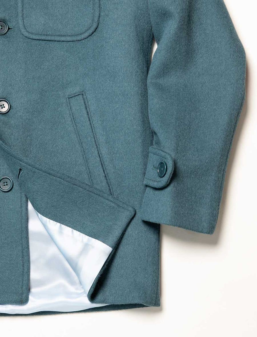 Teal Wool Overcoat