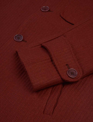 Burgundy Ribbed Cashmere Overcoat | 40 Colori