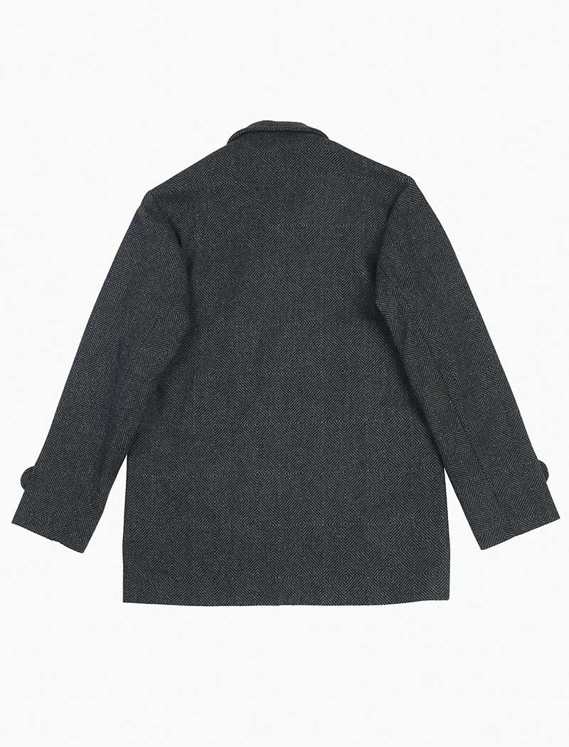Charcoal Zigzag Wool Overcoat | 40 Colori