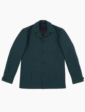 Teal Herringbone Cotton Shacket | 40 Colori