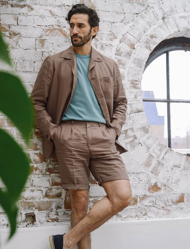 Brown Linen Shacket | 40 Colori