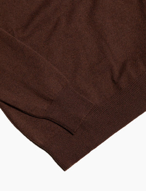 Brown Crew Neck Cashmere Jumper | 40 Colori