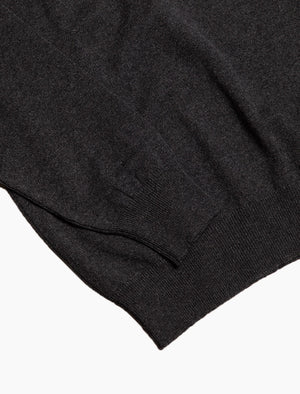 Charcoal Crew Neck Cashmere Jumper
