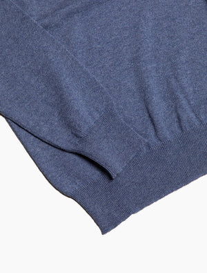 Light Blue V Neck Cashmere Jumper