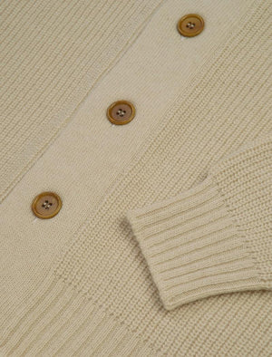 Ivory Ribbed Shawl Neck Wool & Cashmere Cardigan | 40 Colori