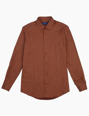 Rust Flannel Cotton Shirt | 40 Colori
