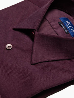 Burgundy Thin Corduroy Shirt