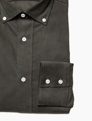 Green Thin Corduroy Shirt