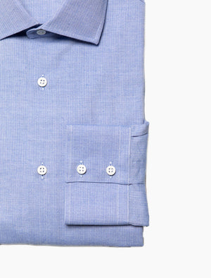 Light Blue Small Herringbone Cotton Shirt