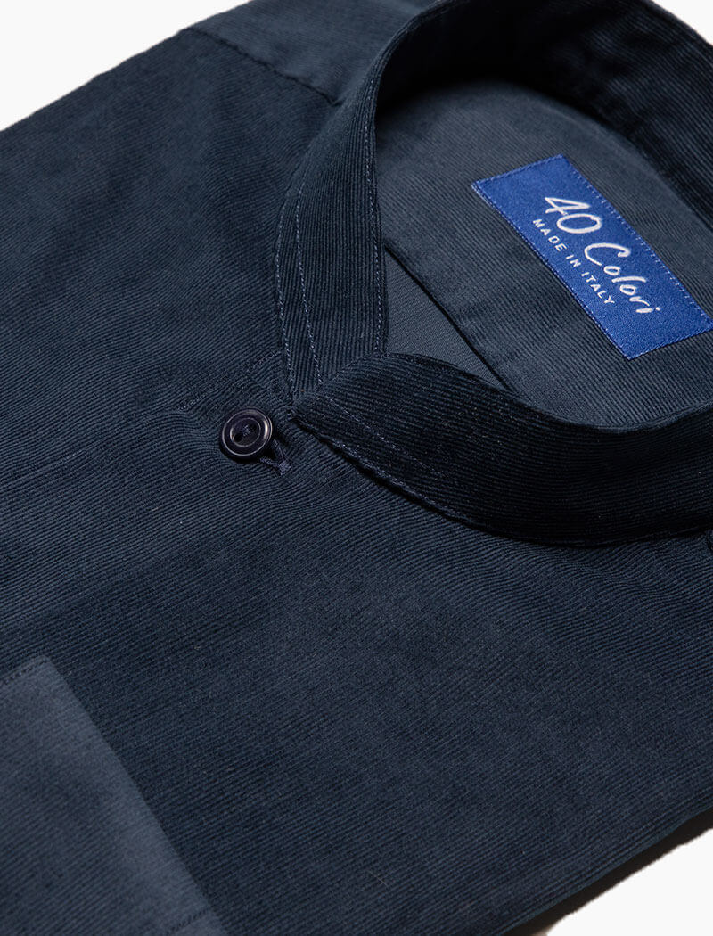 Navy Thin Corduroy Shirt