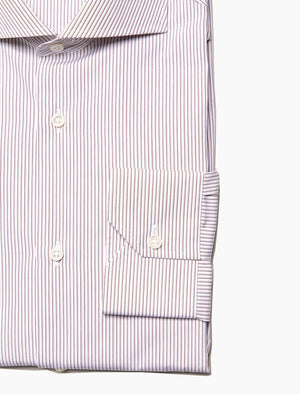 Cream & Brown Thin Striped Shirt