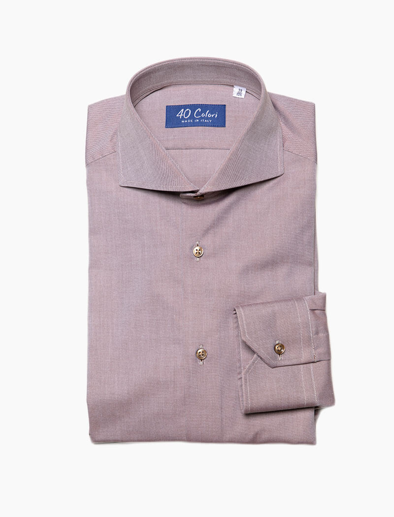 Jane Brown Cotton Shirt | 40 Colori
