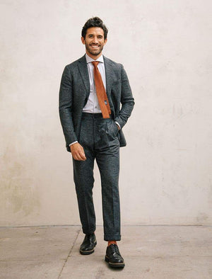 Charcoal Speckled Wool Silk Blazer | 40 Colori