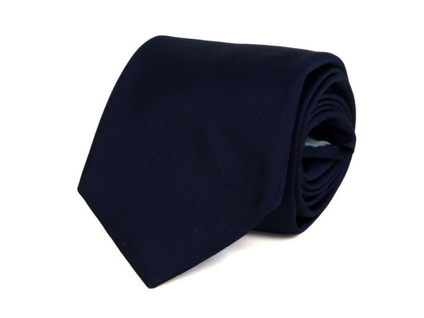 SOLID WOVEN SILK BIG AND TALL TIE