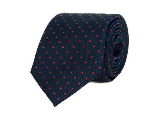 DOTTED WOVEN SILK BIG AND TALL TIE