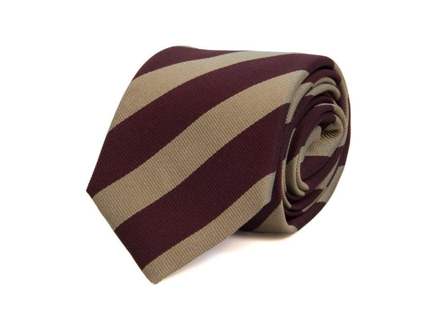 CLUB STRIPED WOVEN SILK TIE