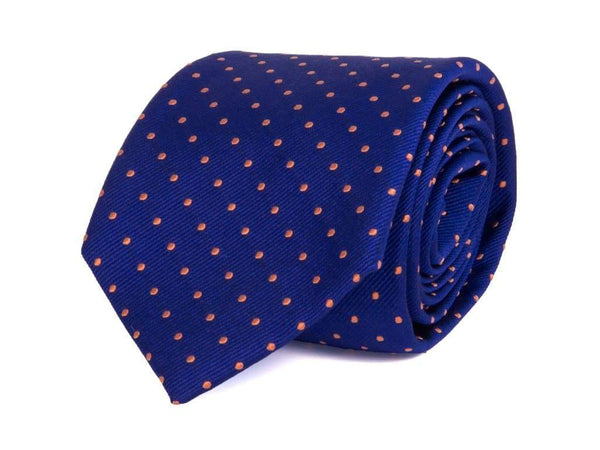 DOTTED WOVEN SILK TIE