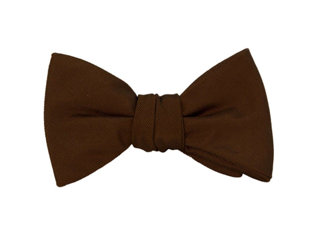 Solid Woven Silk Butterfly Bow Tie
