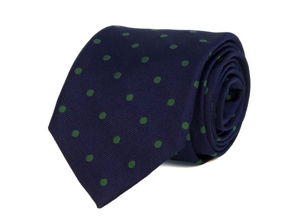 LARGE WOVEN DOTTED SILK BIG AND TALL TIE